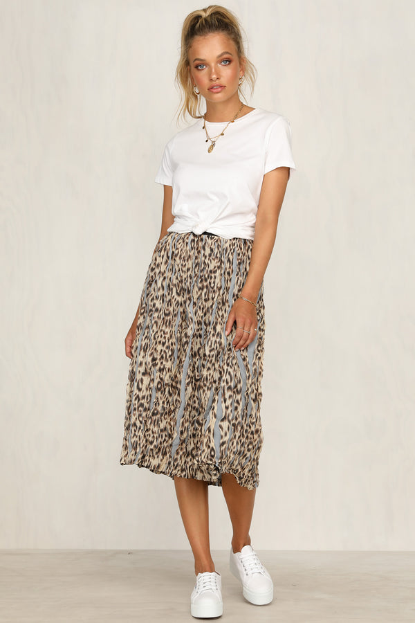 Two Steps Back Skirt (Beige)