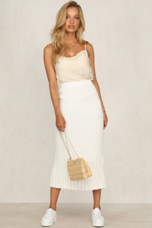 Adriana Knit Skirt (White)