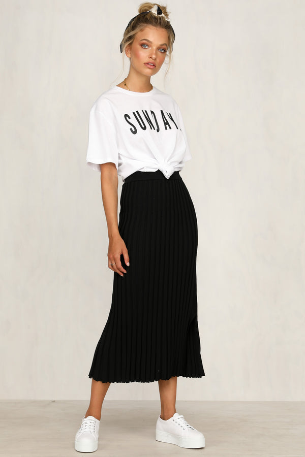 2a3305442 Adriana Knit Skirt (Black)