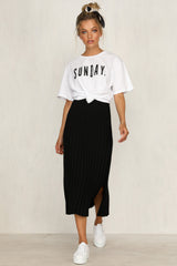 Adriana Knit Skirt (Black)