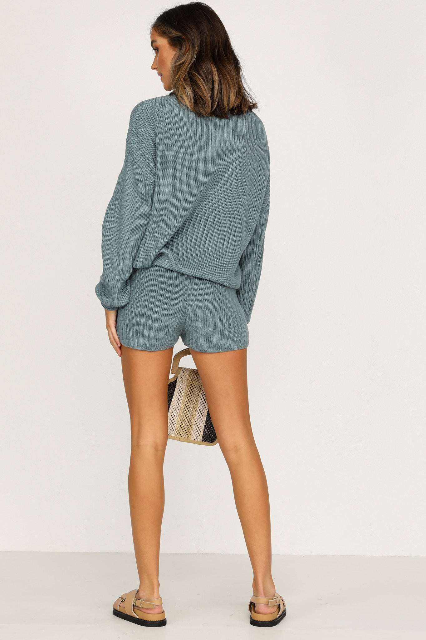 Kavala Knit Shorts (Teal)