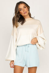 Chantelle Knit Shorts (Blue)