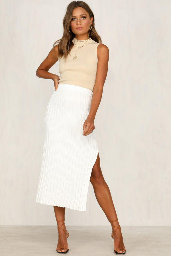 Zenna Knit Skirt (White)
