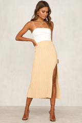 Zenna Knit Skirt (Beige)