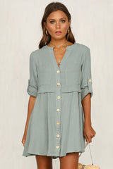 Country Girl Dress (Sage)