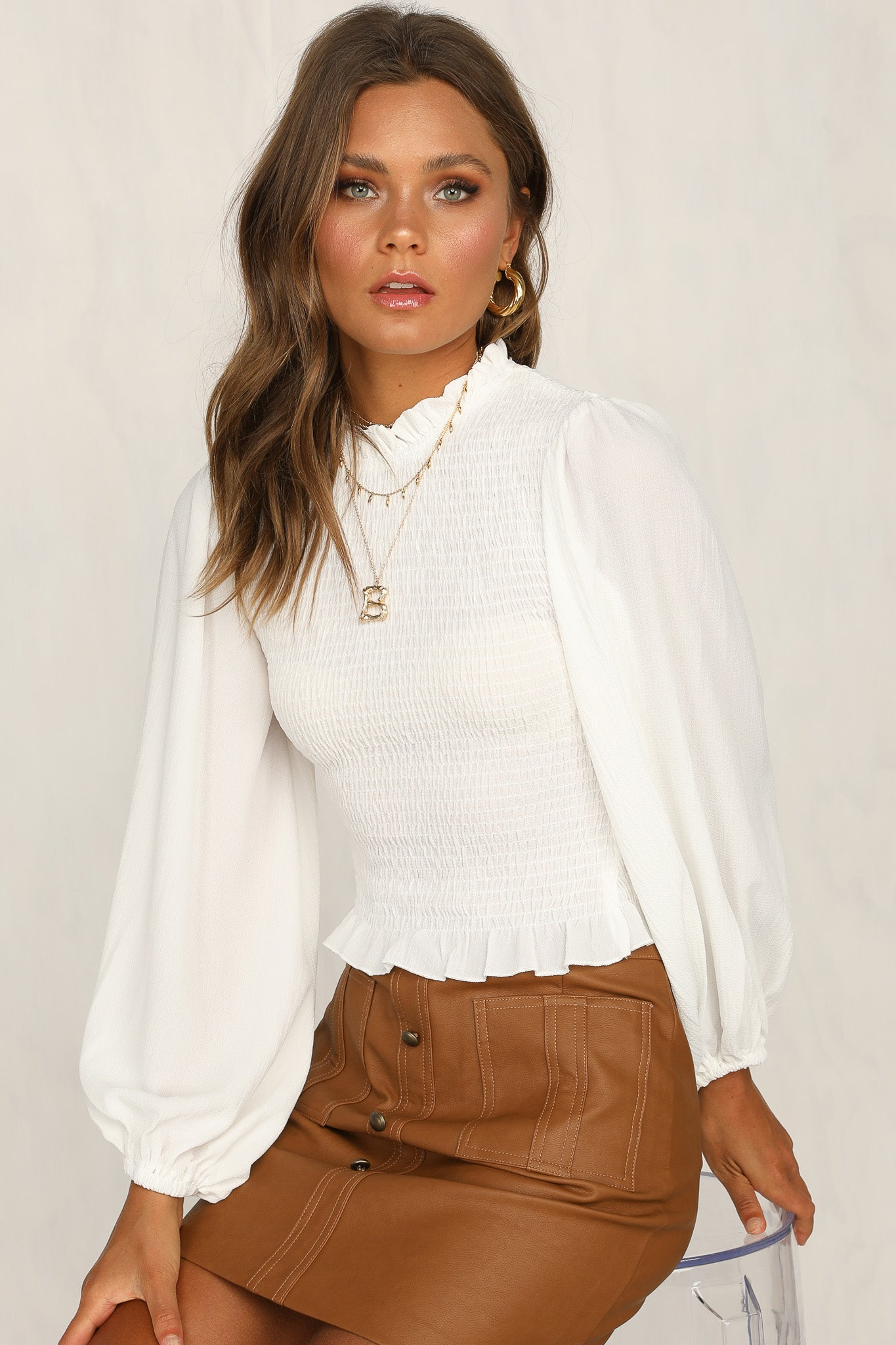 Becoming Yourself Top (White)