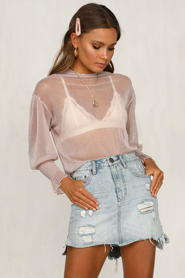 Crystallised Top (Pink)