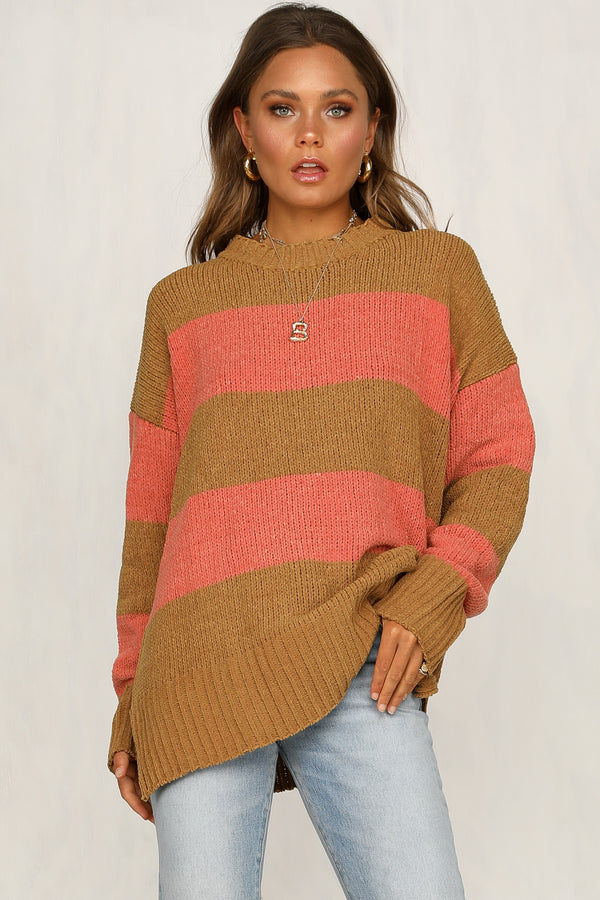 Take The Leap Knit Jumper (Mustard)