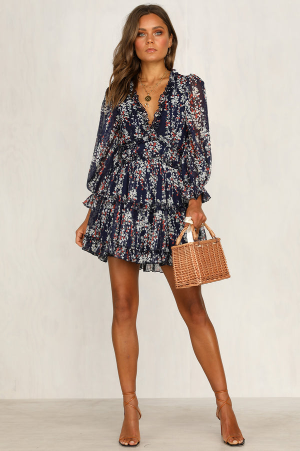 Look My Way Dress (Navy)