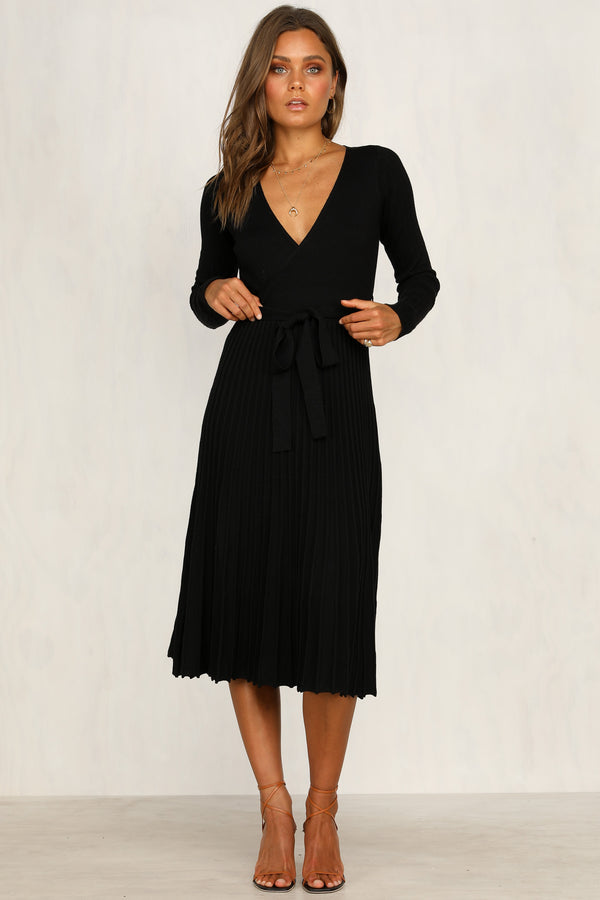 Florence Knit Dress (Black)