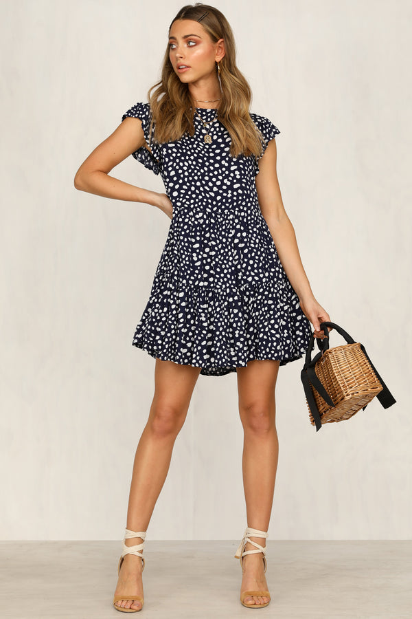 Heading Up Dress (Navy)