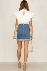 Lose My Mind Skirt (Blue Denim)