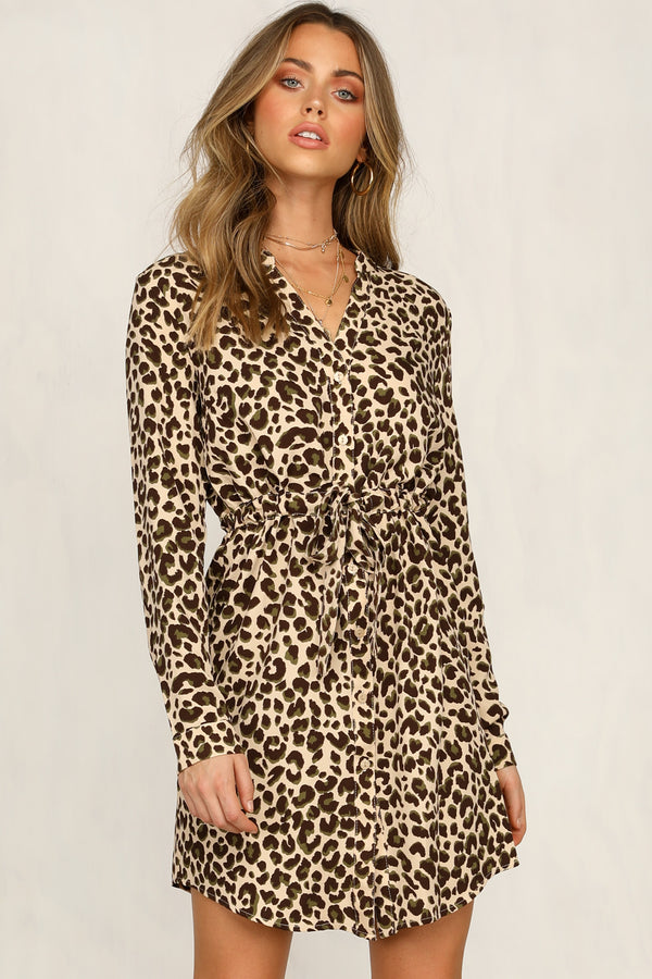 Down To An Art Dress (Leopard)