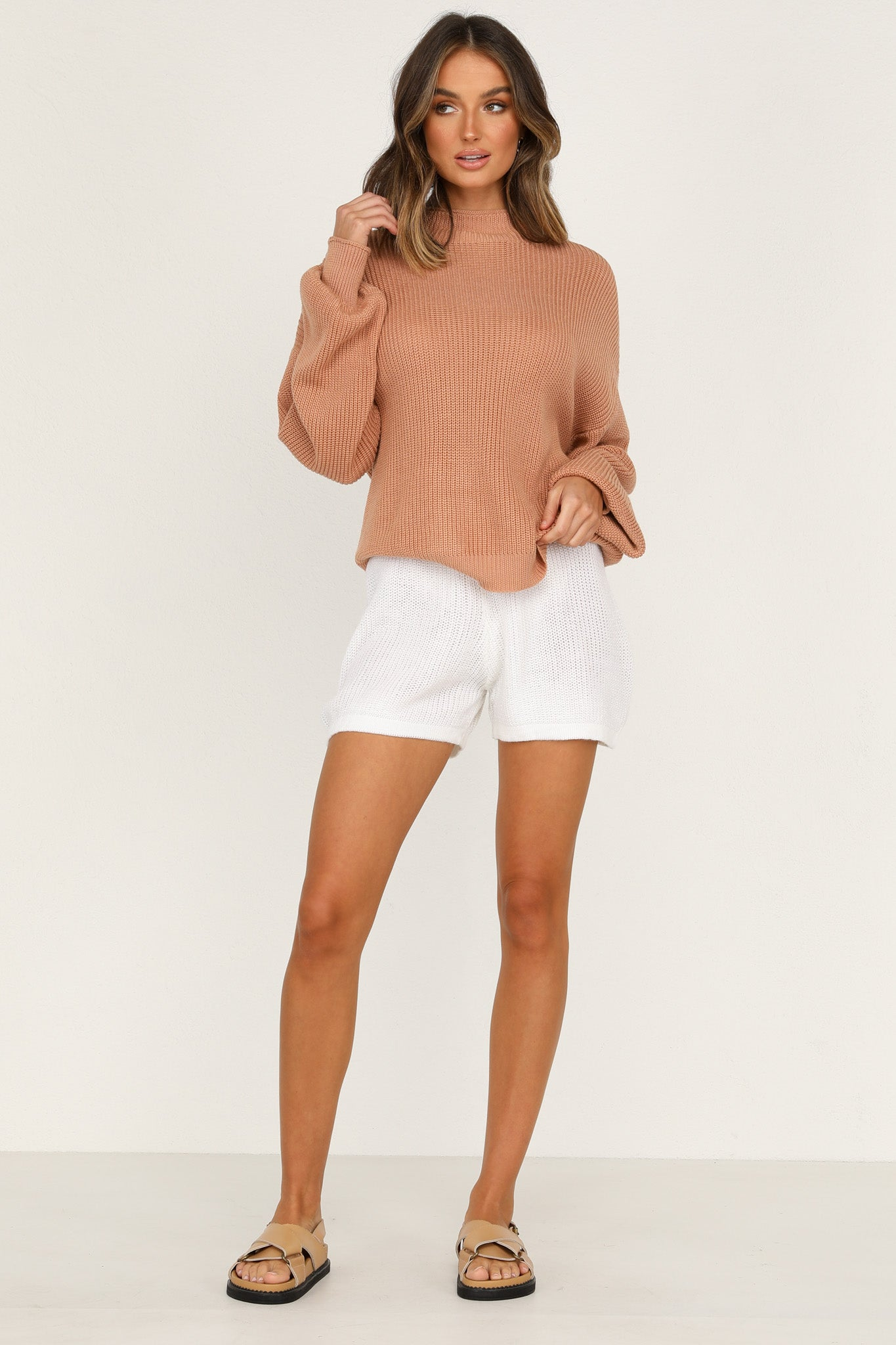 Magic Hour Knit Shorts (Ivory)