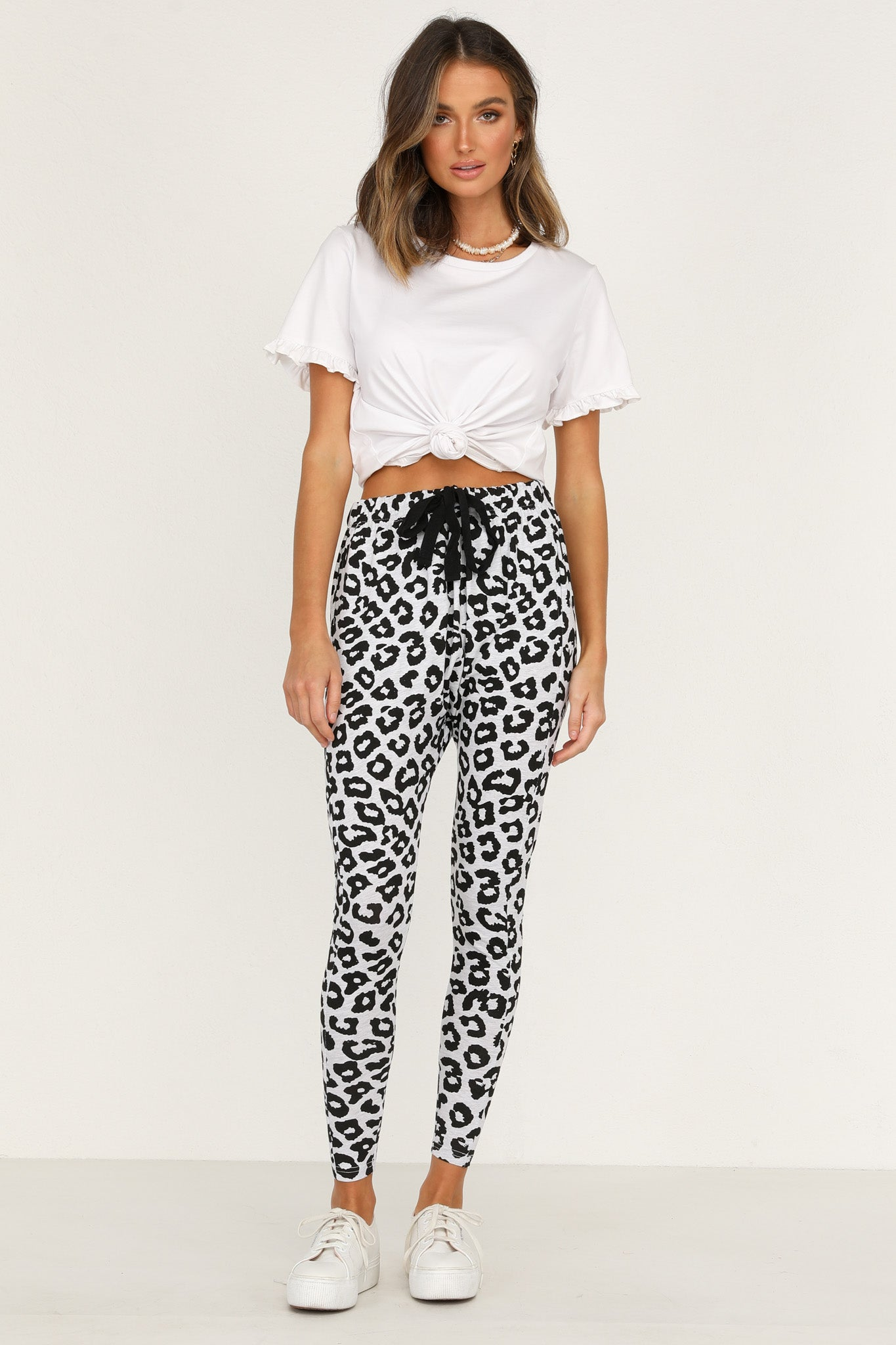 Mila Pants (Grey Leopard)