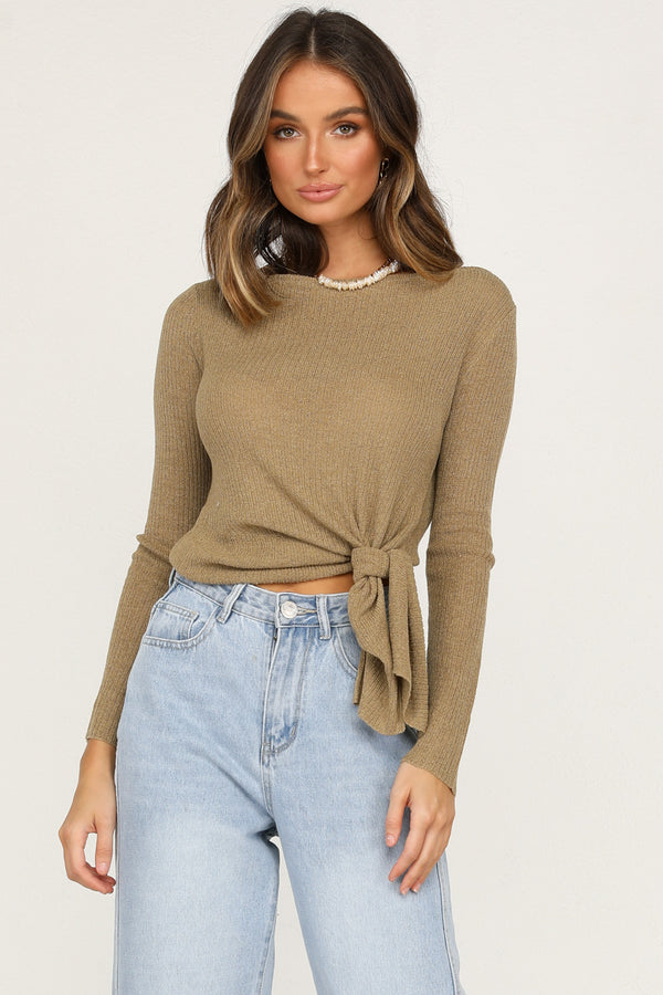 Switch Knit Top (Olive)