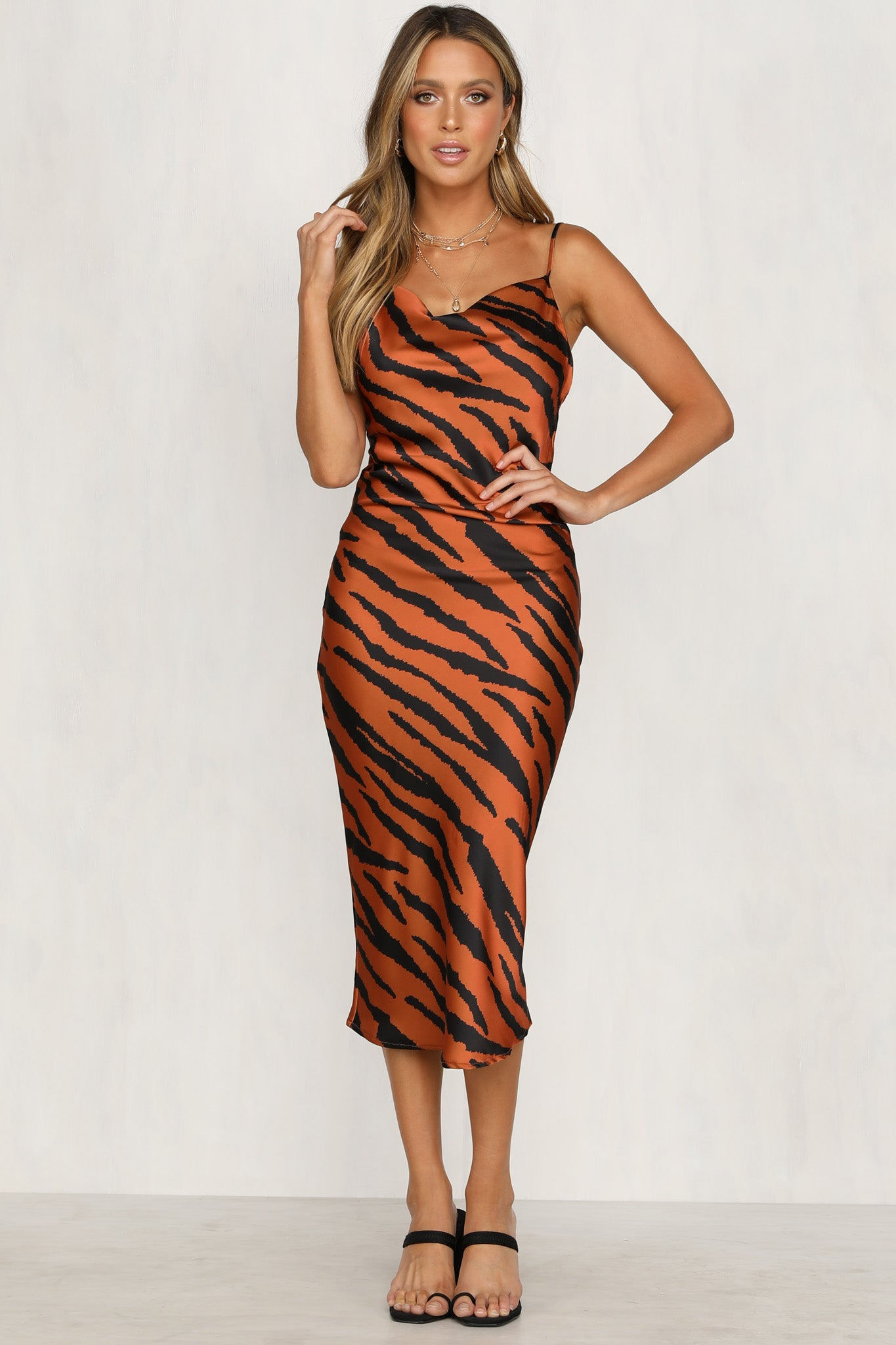 Royale Dress (Tiger Print)
