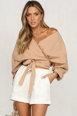 Absolutely Wrapped Top (Tan)