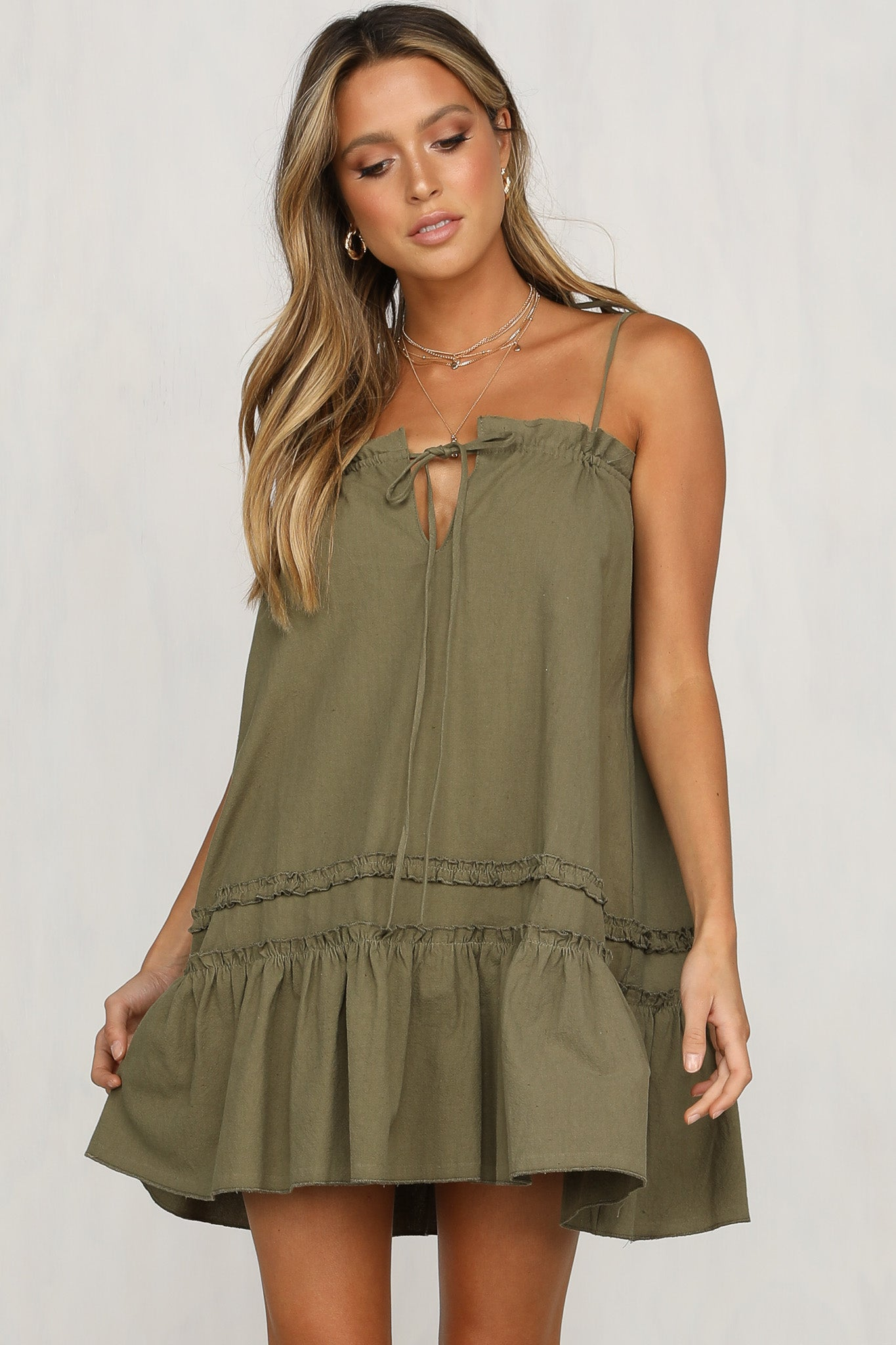 Sienna Dress (Khaki)