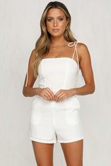 West Coast Girl Playsuit (White)