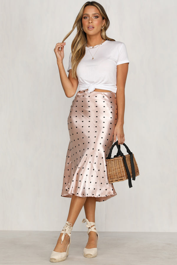 Evolution Skirt (Pink Polka Dot)