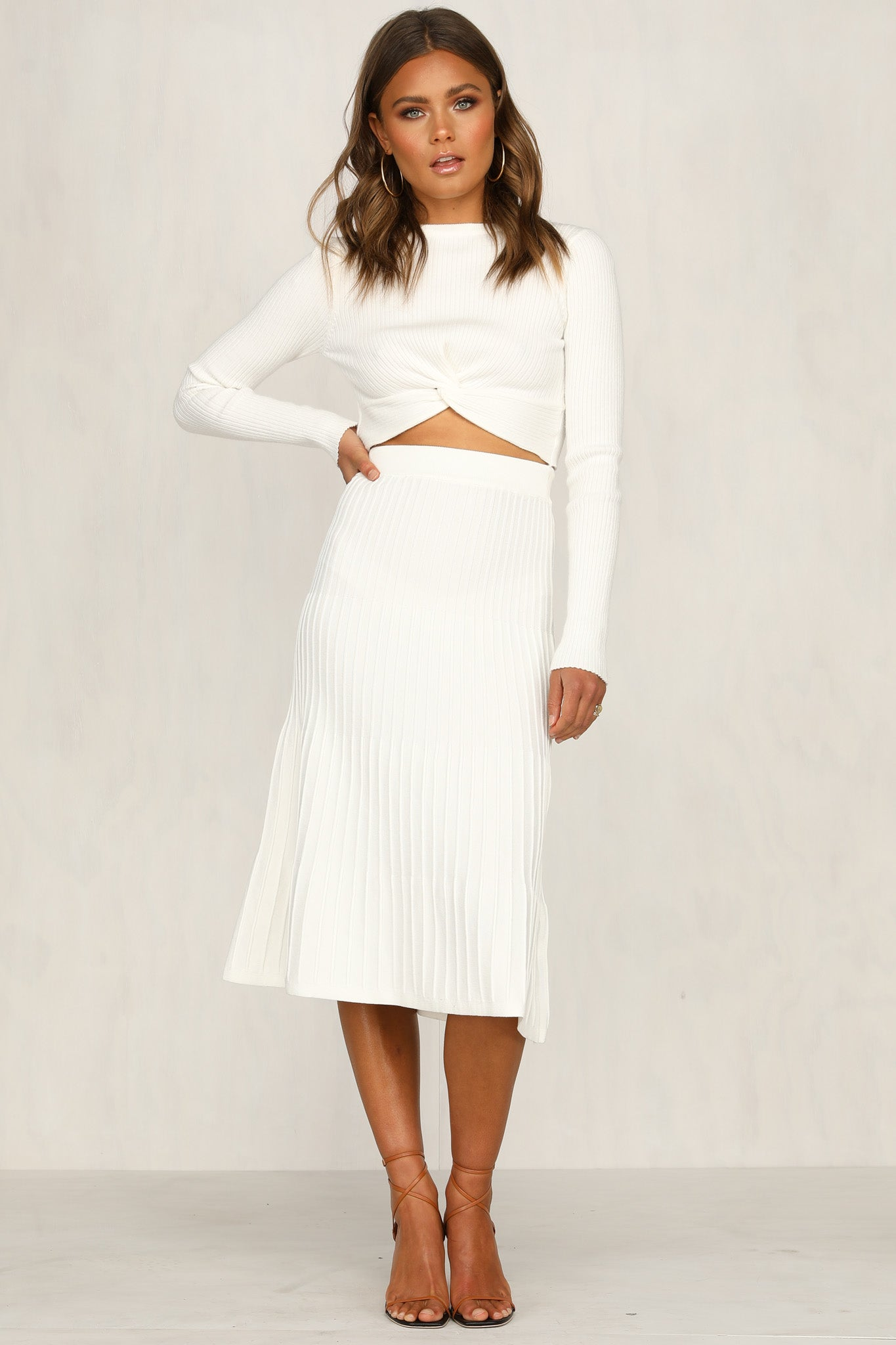 85df94d43 Avery Knit Skirt (White) – RunwayScout