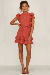 Clarita Dress (Rust)
