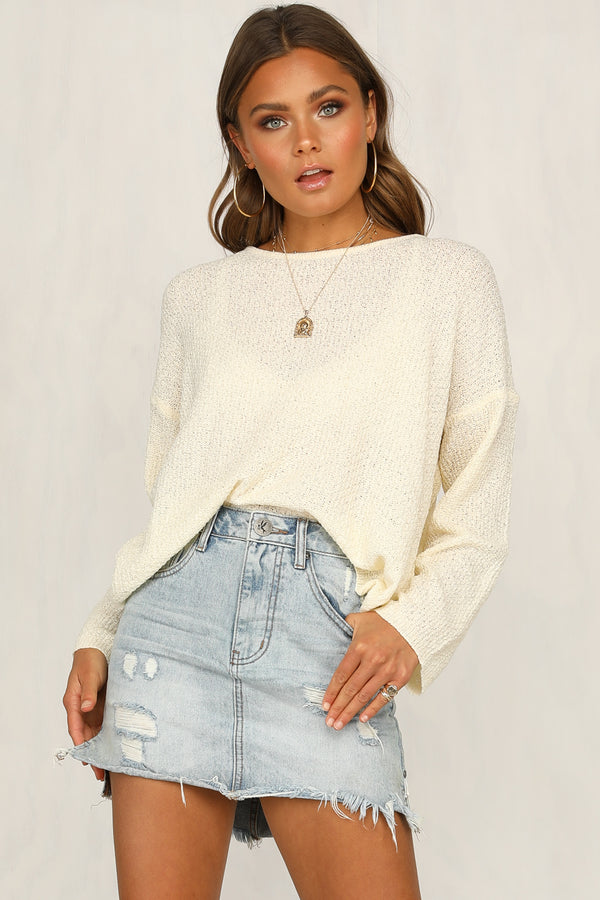 Alani Knit Top (Cream)