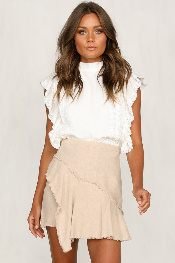 Easy Does It Skirt (Beige)