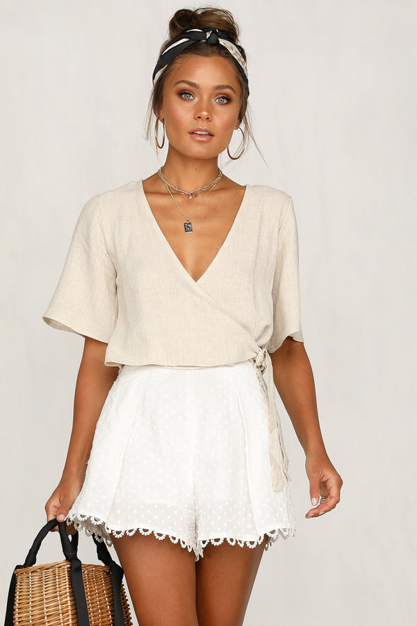 Say A Prayer Top (Beige)