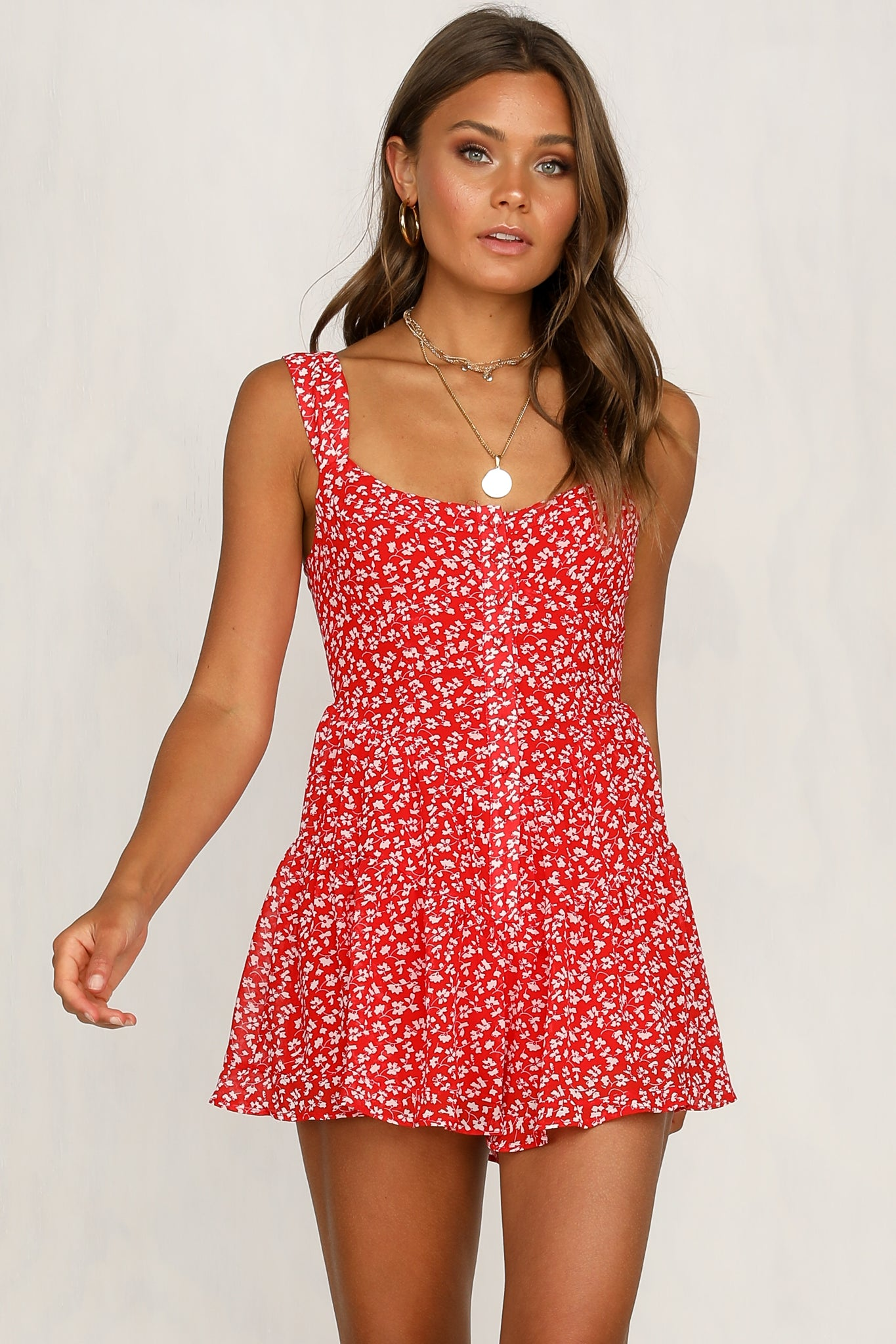 Trystan Playsuit (Red Floral) – RunwayScout