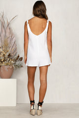 Tip-Toe Playsuit (White)