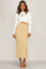 Empire Skirt (Mustard)