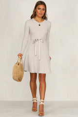 Do The Talking Knit Dress (Grey)