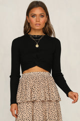 Hasty Knit Top (Black)