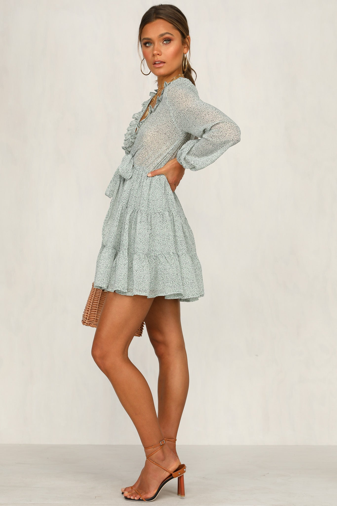 Over The Moon Dress (Mint)