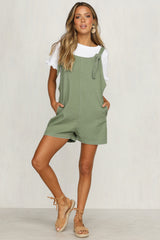 Venus Rising Playsuit (Khaki)