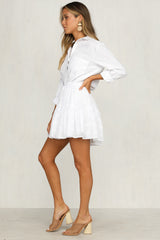 Bound To You Skirt (White)