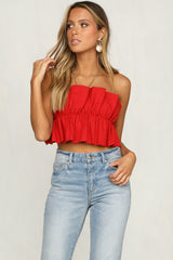 Coyote Bodice Top (Red)