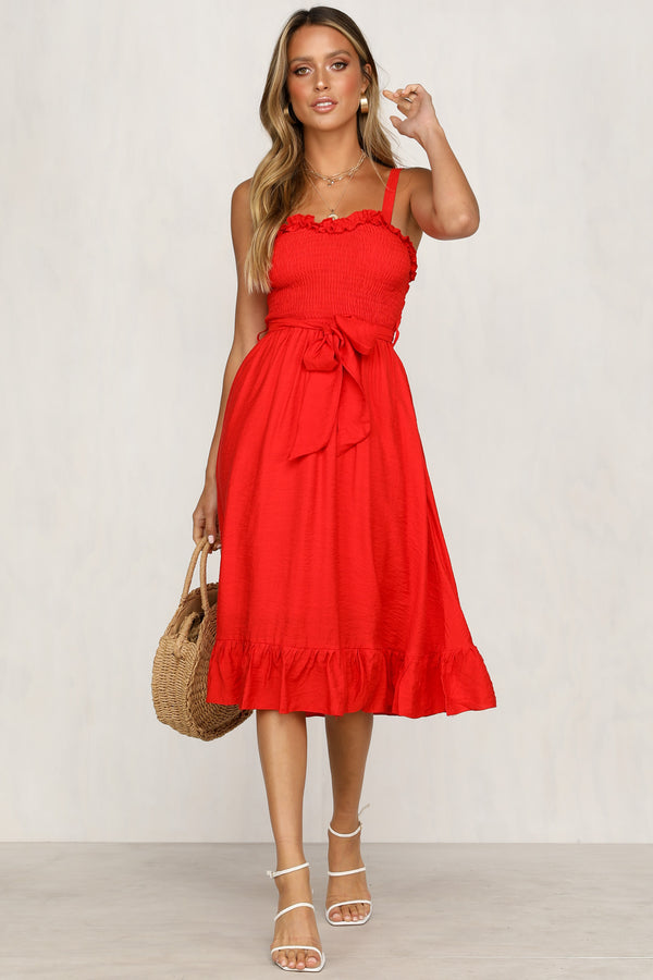 Inner Circle Dress (Red)