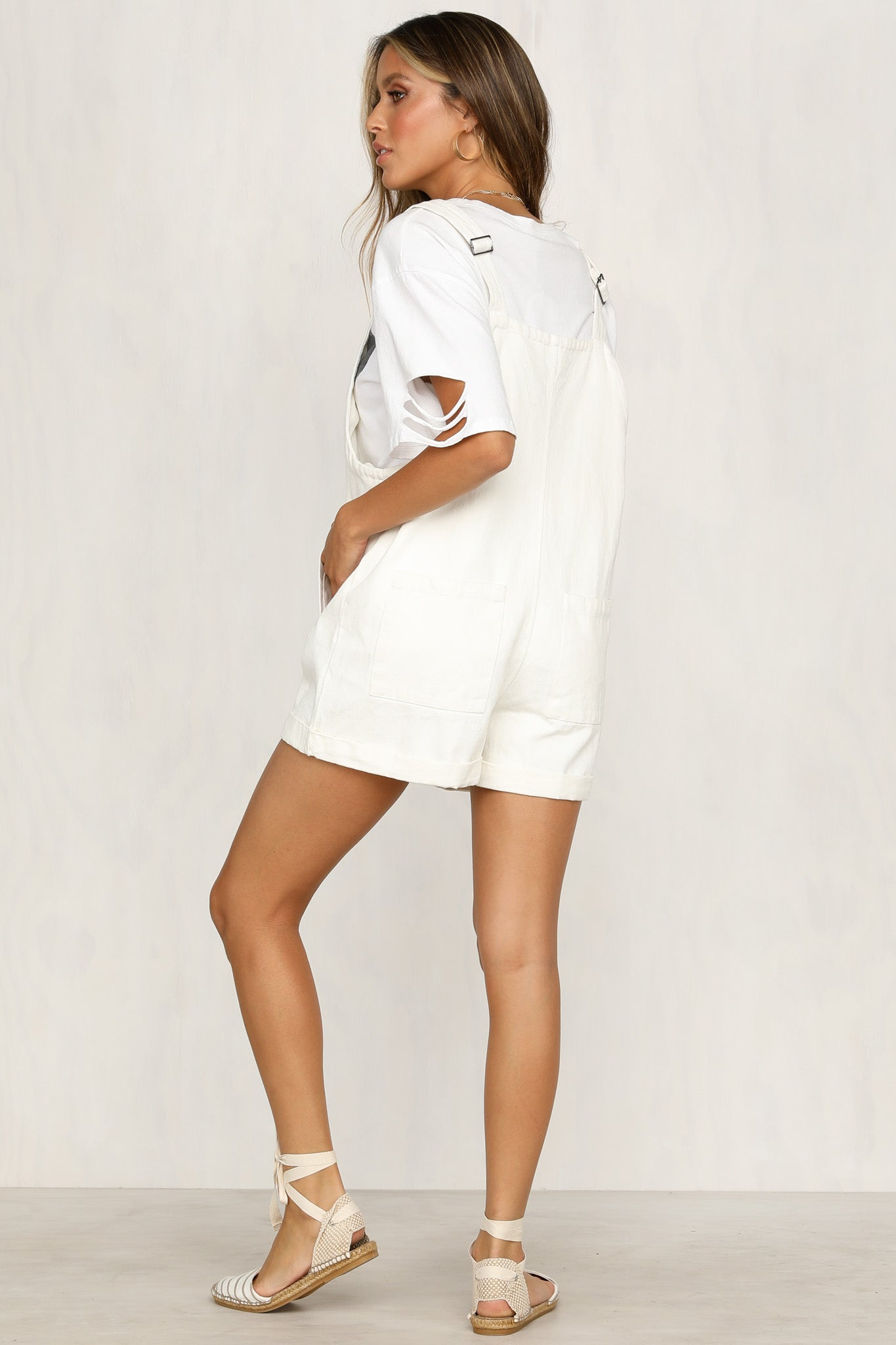 Take Care Playsuit (White)