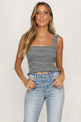 Run To You Cami (Black Stripe)