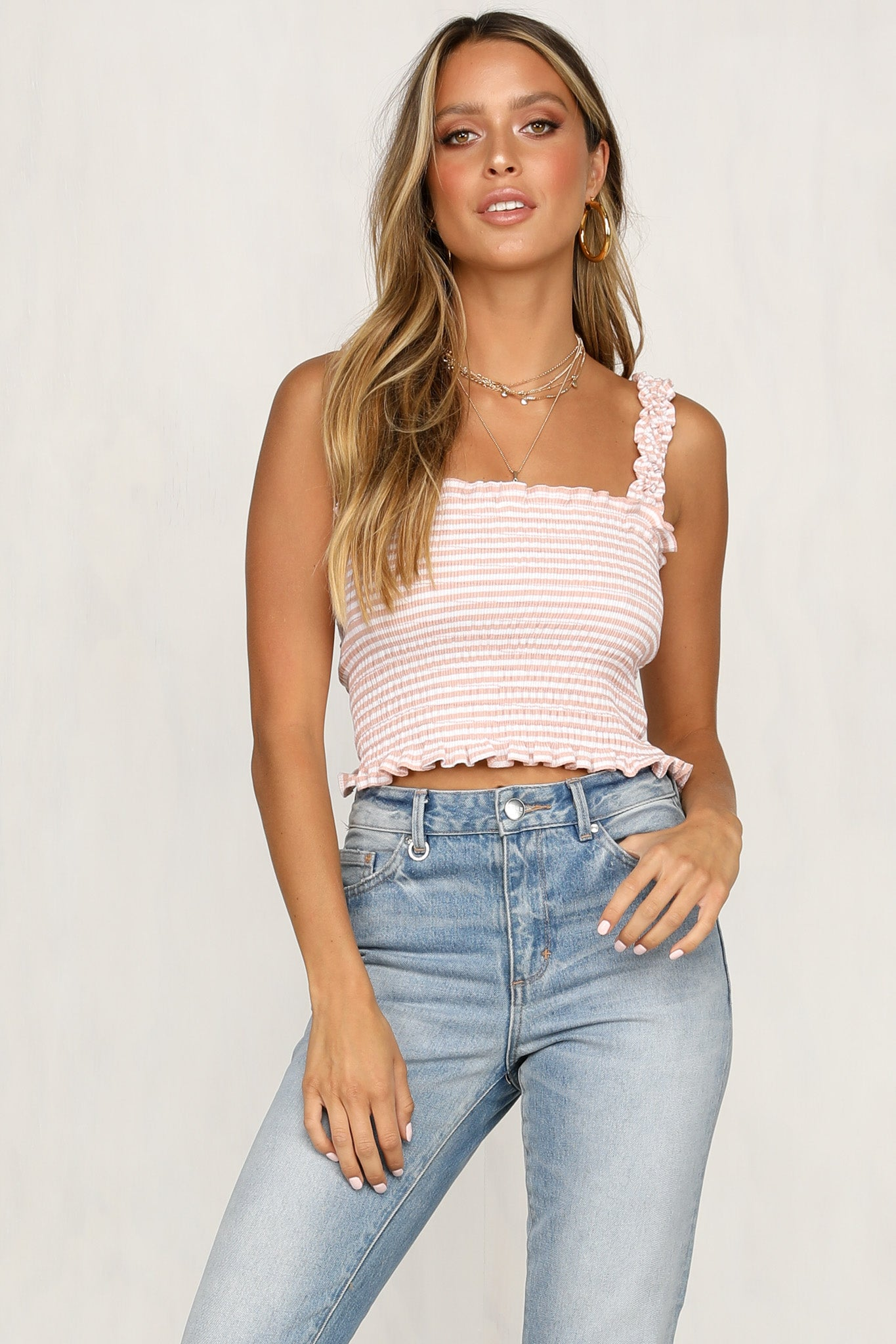 Run To You Cami (Pink Stripe)