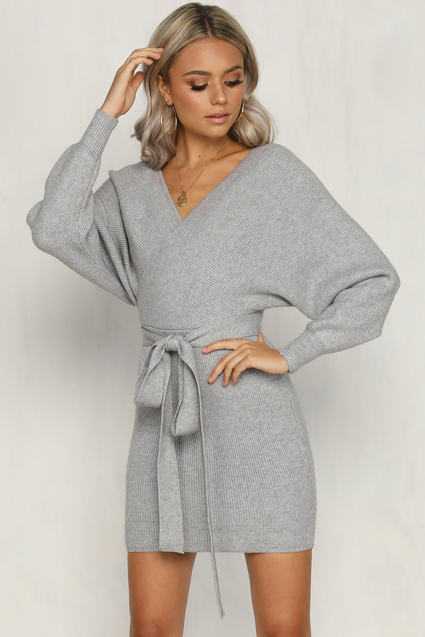 Mila Knit Dress (Grey)
