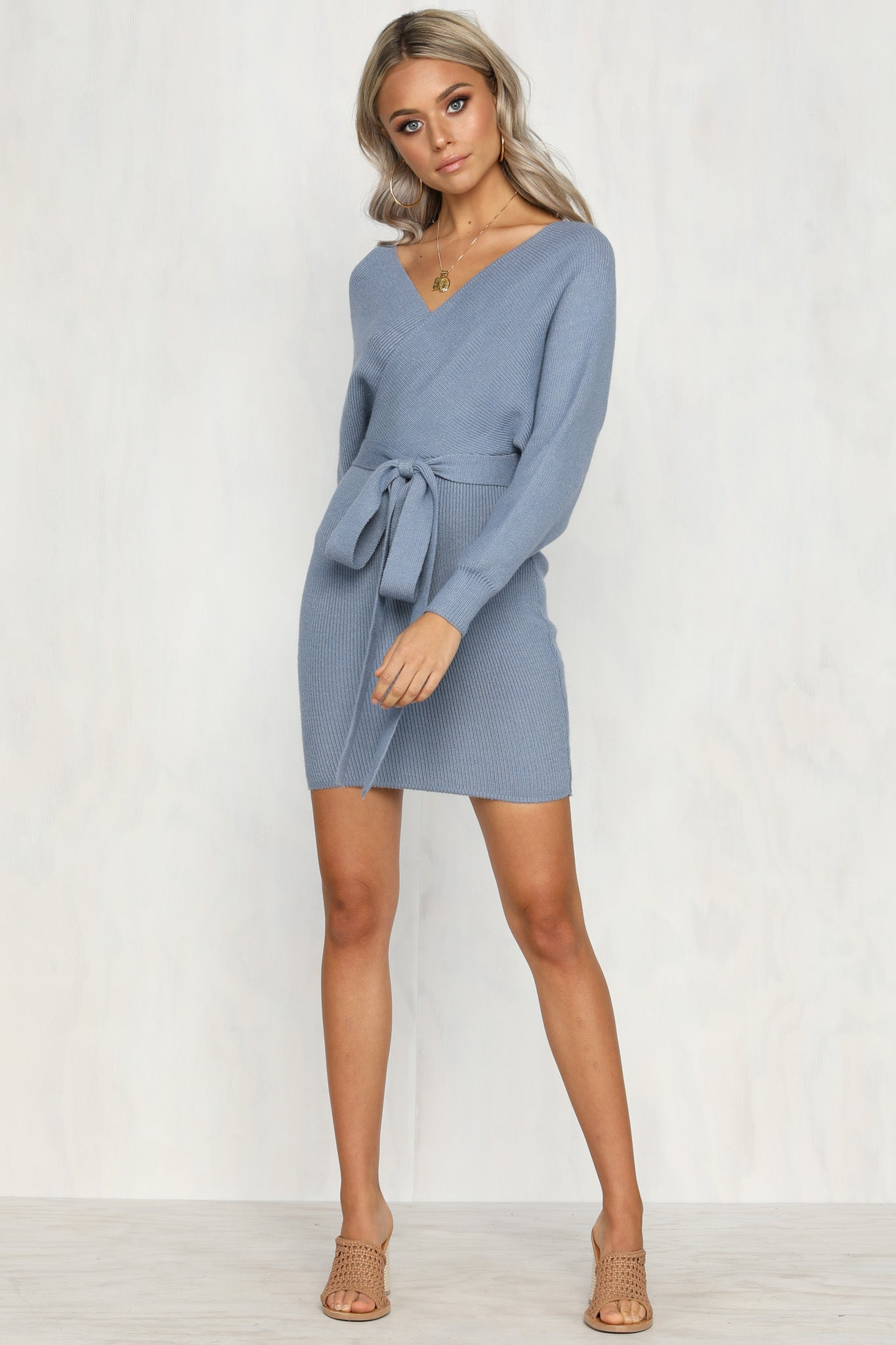 Mila Knit Dress (Blue)