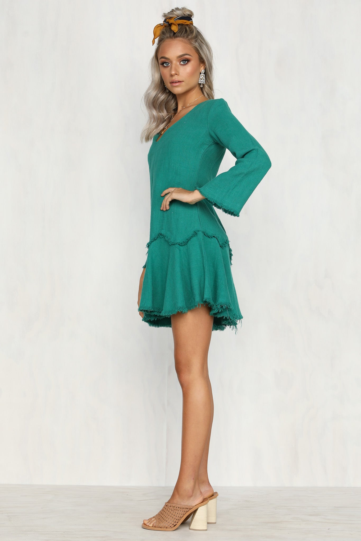 Chelsea Girl Dress (Emerald)