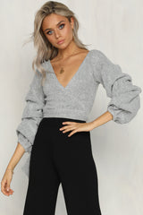 Nora Knit Wrap Top
