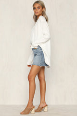Brydie Knit Top (White)