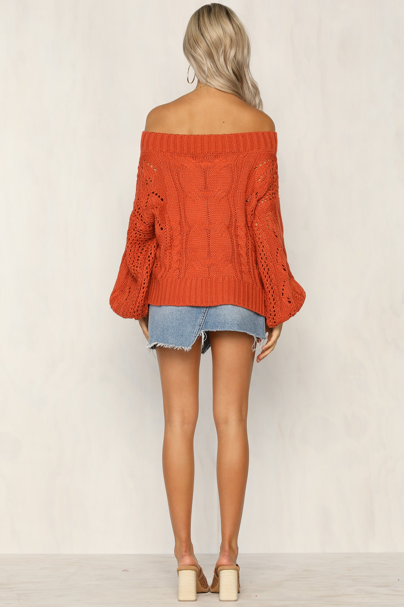 Maxwell Knit Sweater (Rust)
