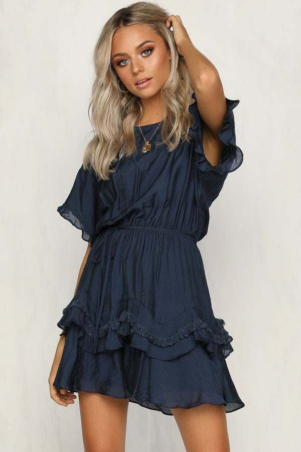 All Fired Up Dress (Navy)